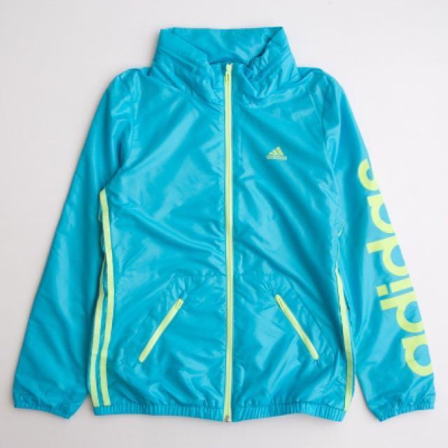 Adidas EN 3S WBRK 防風連帽外套女 藍