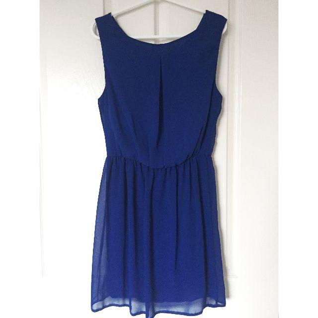 ASOS Cobalt Blue Skater Dress Size UK 8 / EU 36 / US 4