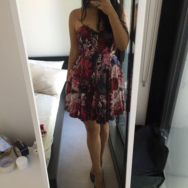 Bardot Winter Floral Dress Brand New
