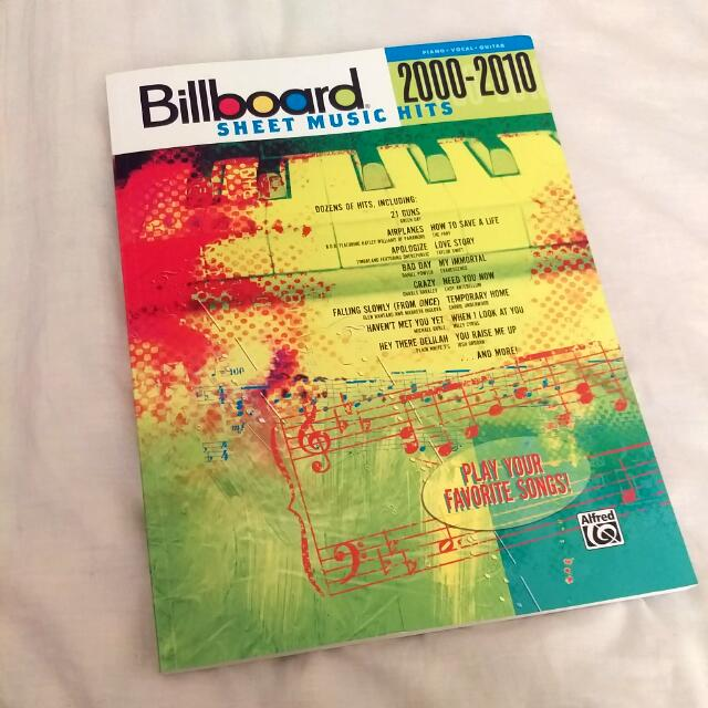 Billboard Sheet Music Hits from 2000-2010