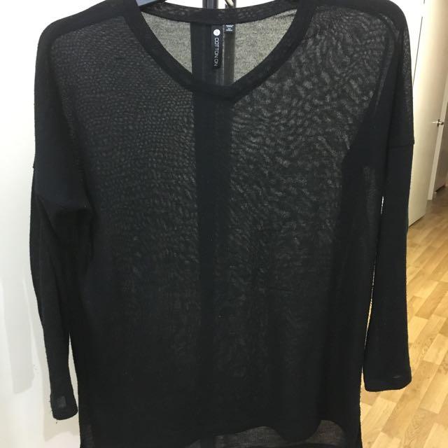 Black V-Neck Knit