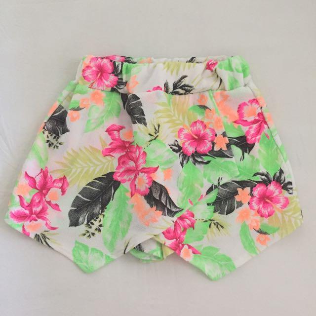 Boohoo Floral Skort Size 8