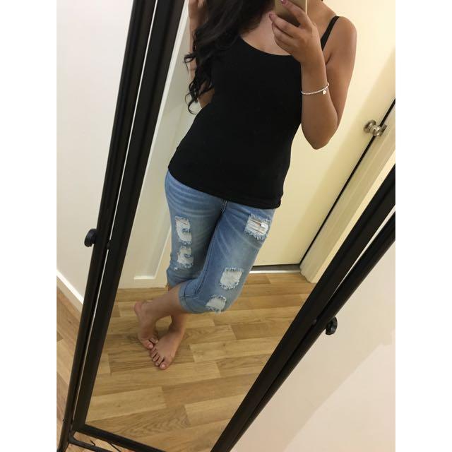 Boyfriend 3/4 Jeans