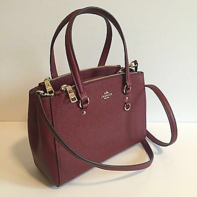 COACH Stanton Carryall 26 in Crossgrain Leather Stachel Black Cherry ... 0df19f05b3243