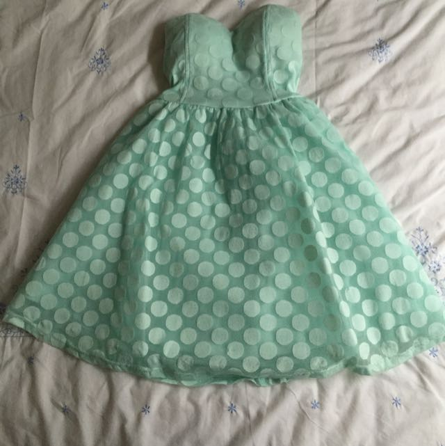 Dotti Pastel Turquoise Polka Dot dress