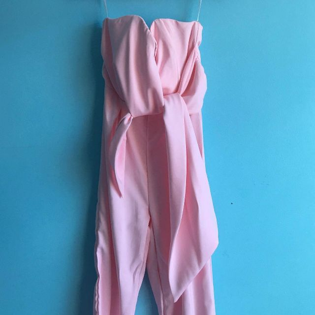 SZ 8 Dusty pink jumpsuit with tie bow
