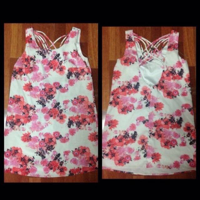 Floral Dress With Back Feature