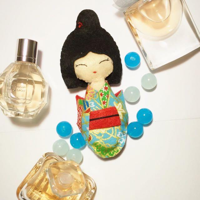 Handmade Felt Aiko In Kimonu