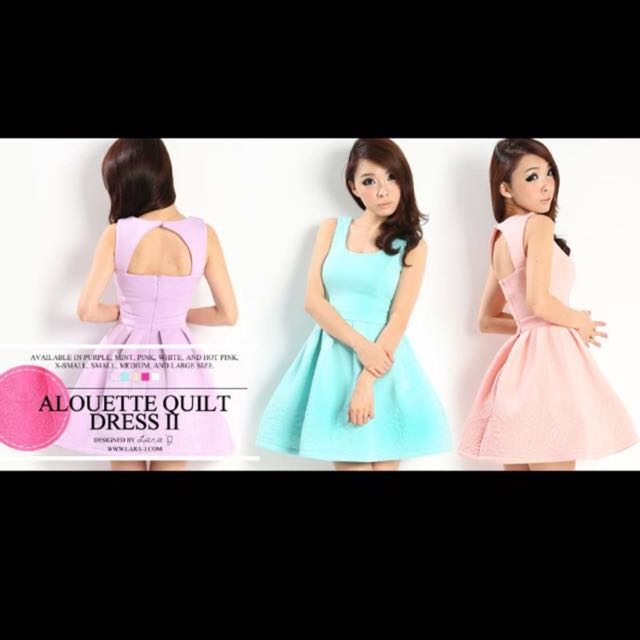 0adc9241e4044 Lara J Alouette Quilt Dress In Hot Pink