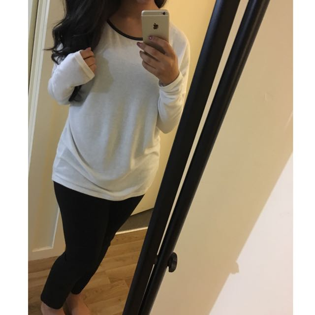Long White Knitted Top