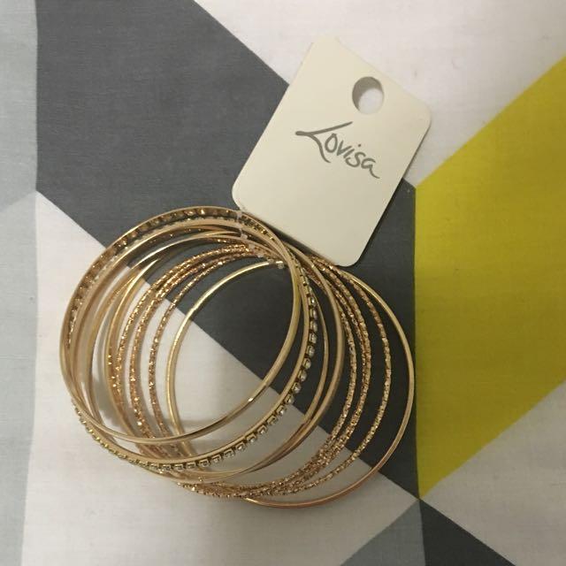 Lovisa gold Bangles