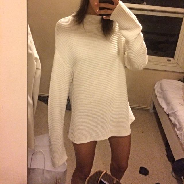 Lulu And Rose White Knit Sweater