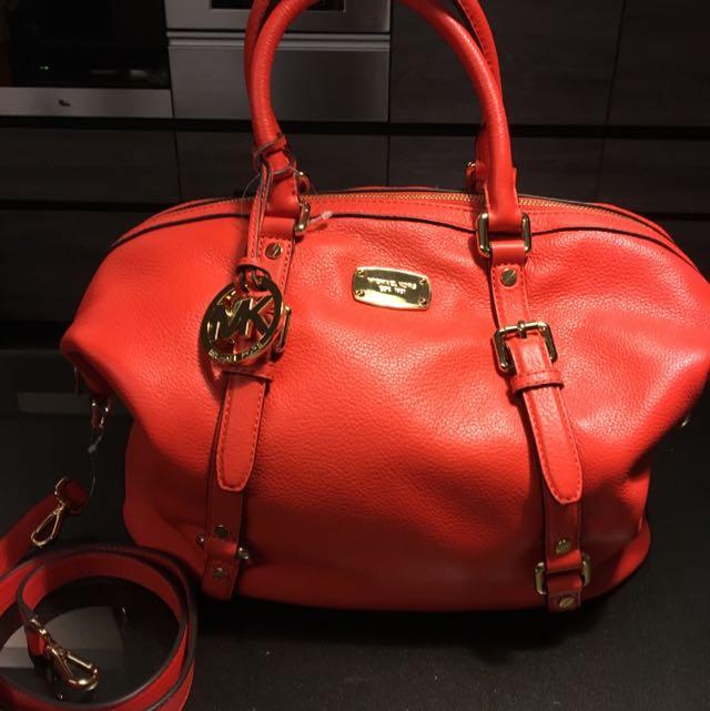 Michael✨MC 橘紅 手提側背包