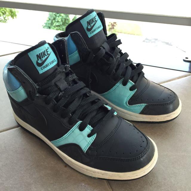 Nike Court Force Hi Top - Teal Black US 7.5
