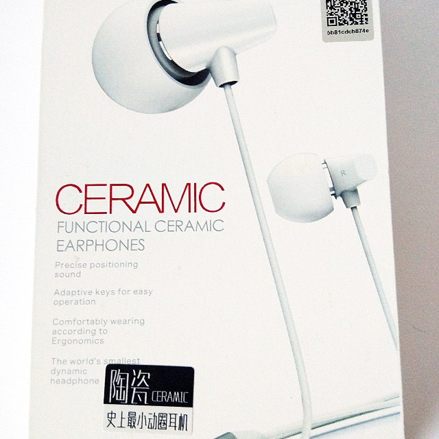 REMAX PREMIUM CERAMIC EARPHONES FOR ALL iOS DEVICES!!
