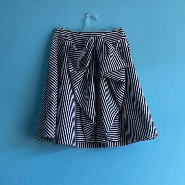 SZ 8-10 Striped bow skirt