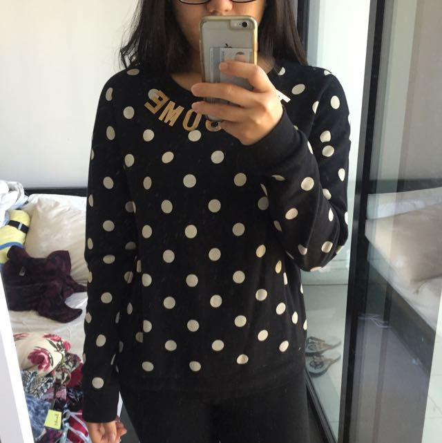 Top Shop Awesome Polka Sweater