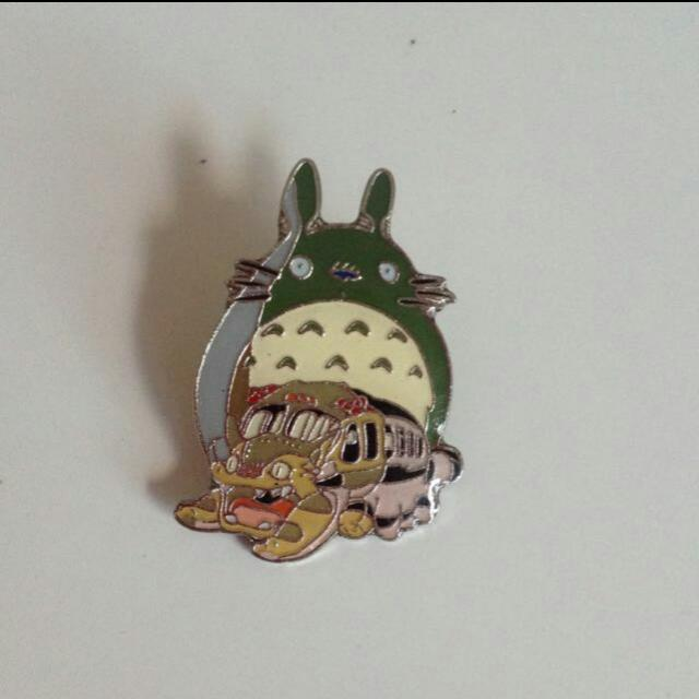Totoro And Neighbour Pin Metal Brooch