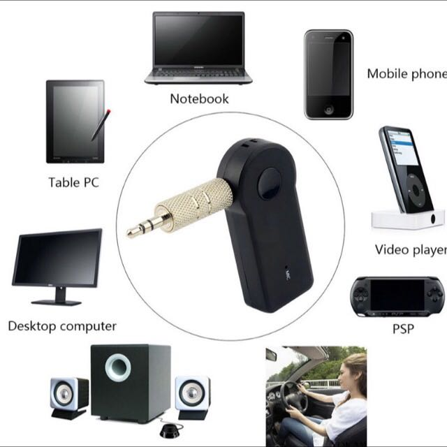 Universal 3.5mm Streaming Car A2DP Wireless Bluetooth AUX Audio Music Receiver Adapter Handsfree