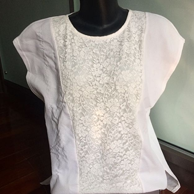 White Lacey Top - Malaysian brand