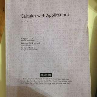 Calculus with applications 微積分原文書