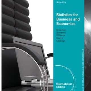 Statistics for business and economics 統計學原文書