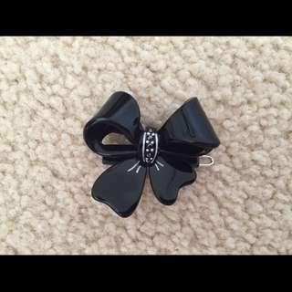 Mimco Black Bow Hair clip