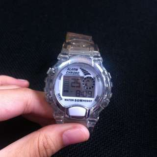 Transparent Digital Watch