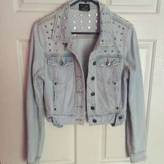 Bardot Studded Denim Jacket