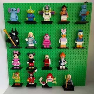 Disney Lego Minifigures Series Full Set Of 18