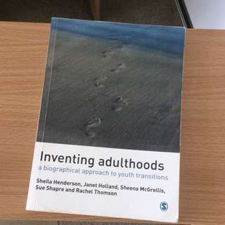 Inventing Adulthoods