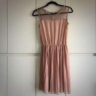 Beautiful Feminine Blush Mesh Dress