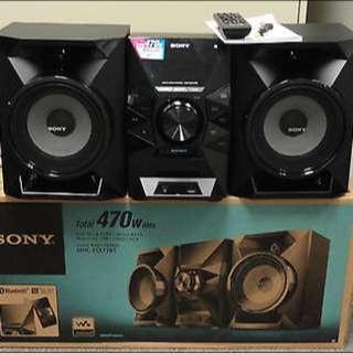 Sony 470W Bluetooth Aux Cd Stereo