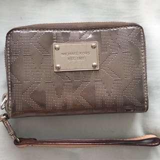 Michael Kors Silver Wrist Wallet