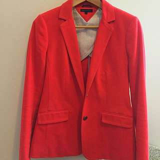 Tommy Hilfiger Ladies Jacket Size 6 Dark Pink