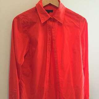 Tommy Hilfiger Ladies Shirt Size 6 Orange