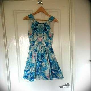 Blue Keepsake Label Dress