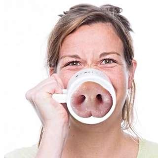 🚚 🐷笑一個!🐽豬鼻陶瓷馬克杯迎客好杯子