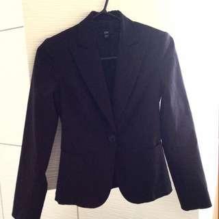 Cue Suit Jacket Black Size 6