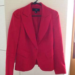 Forever XXI Suit Jacket Red Size Small