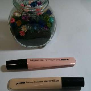 Mirenesse Touch On Concealers In Ivory Pink & Golden Cream