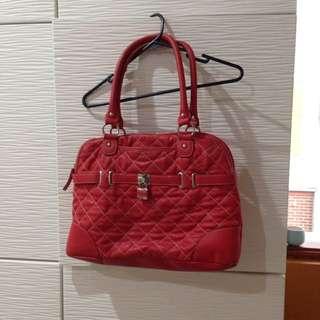 Nine West Bag Red Leather