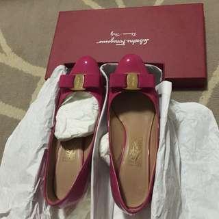 Ferragamo Hot Pink Shoes