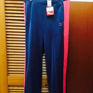 puma 運動褲 休閒褲 瑜珈褲 復古款 藍