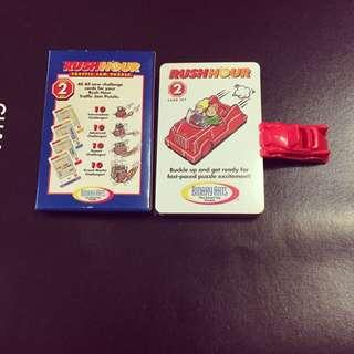美國全新益智遊戲紙牌-附紅色模型小車