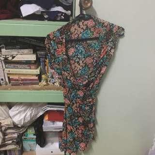 Wrap Around Floral Dress
