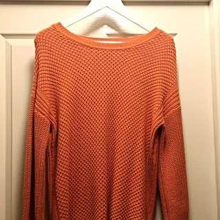 Thick Orange Knit Jumper