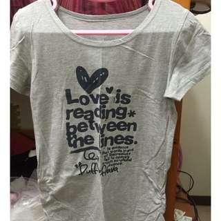 🚚 「全新」簡約英文字灰色T恤