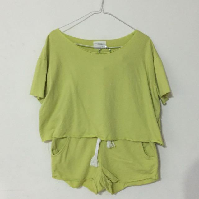 青草綠休閒套裝組