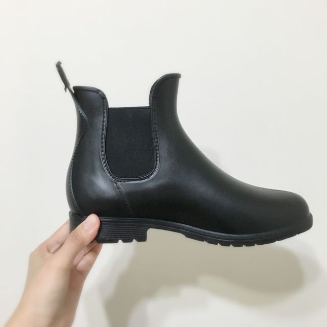 ✅含運🌧黑色霧面短雨靴/鞋
